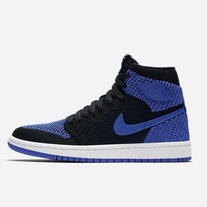 NIKE AIR JORDAN 1 RETRO HI FLYKNIT ROYAL SHOES